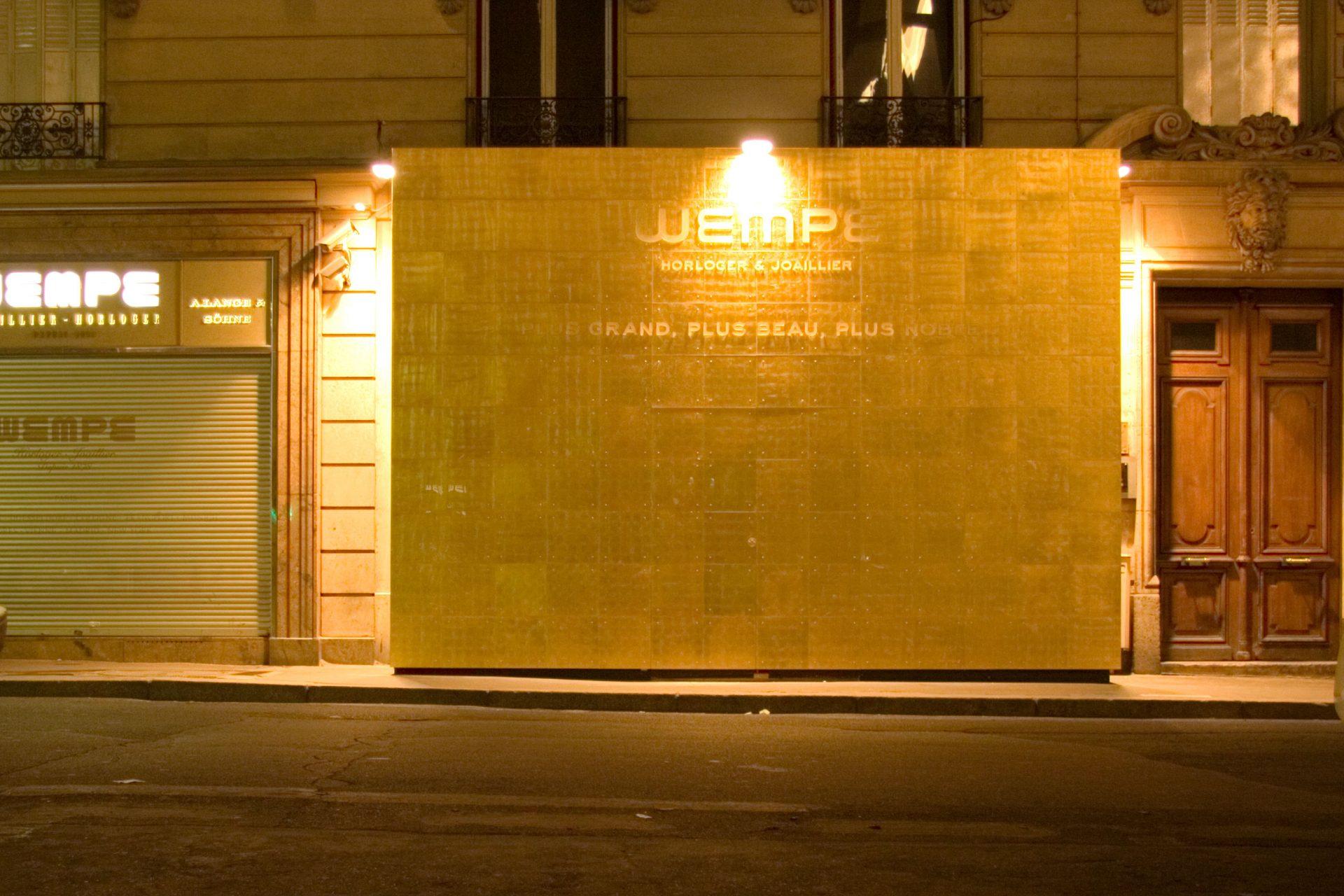 BAUZAUN MIT BLATTGOLD-BESCHICHTUNG | PARIS, RUE ROYAL | 2006