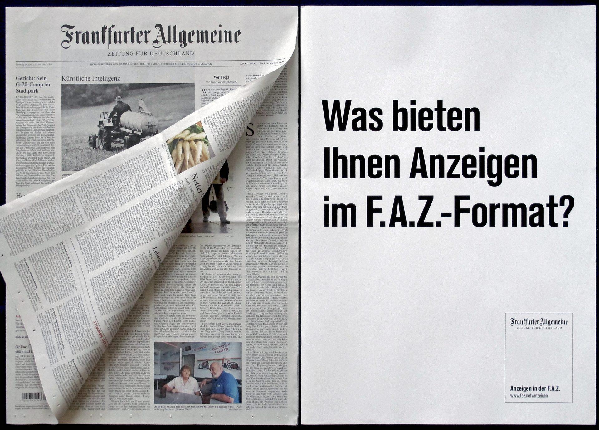 FAZ Großer Auftritt Broschüre und Zeitung 1